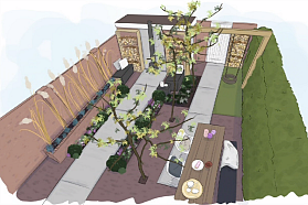 Speels groen en rechte lijnen eigen huis tuin for Rob eigen huis en tuin