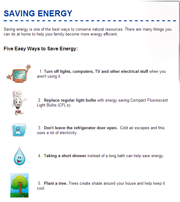 good ways to save energy at home for kids #3: 5 Easy Ways to Save Energy for Kids