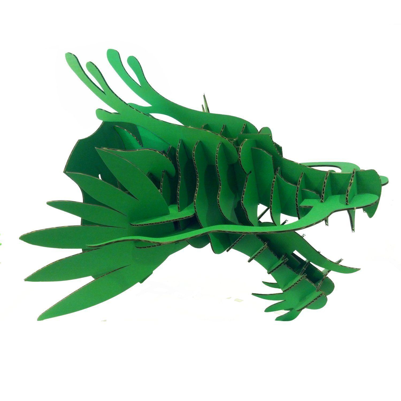 Paper maker diy cardboard dragon head wall decoration