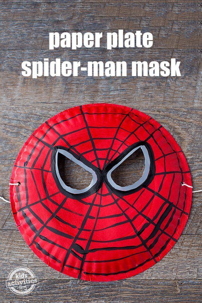 EASY TO MAKE PAPER PLATE SPIDER-MAN MASK | Pappteller, Spielen und Kind