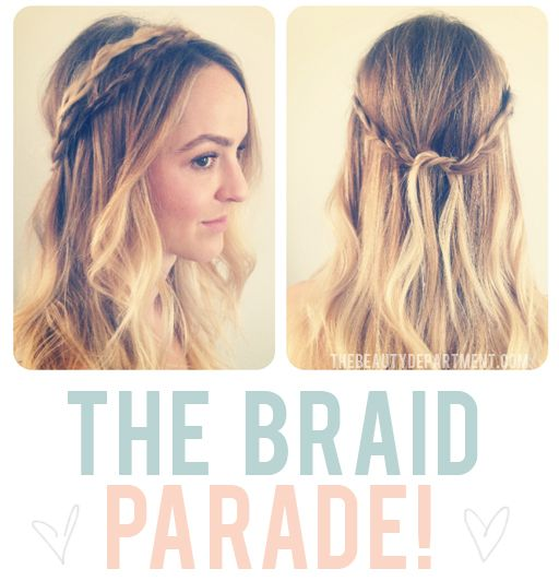 Braid crown for those with medium length hair/hair that doesn't *quite* wrap around. I feel like I should be laughing my evil genius laugh...