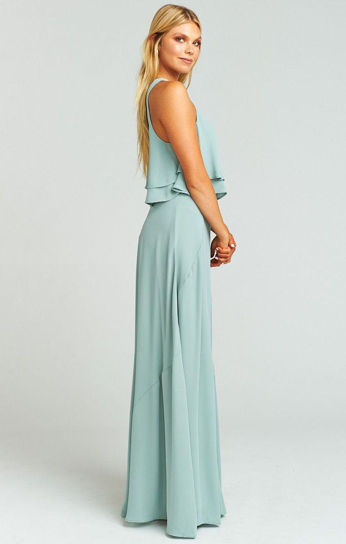Princess Di Stretch Ballgown Maxi Skirt ~ Silver Sage Crisp in 2018 ...