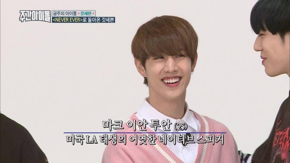 Got7 S Mark Gets Nervous When Speaking In English On Weekly Idol Weekly Idol Got7 Speaking English