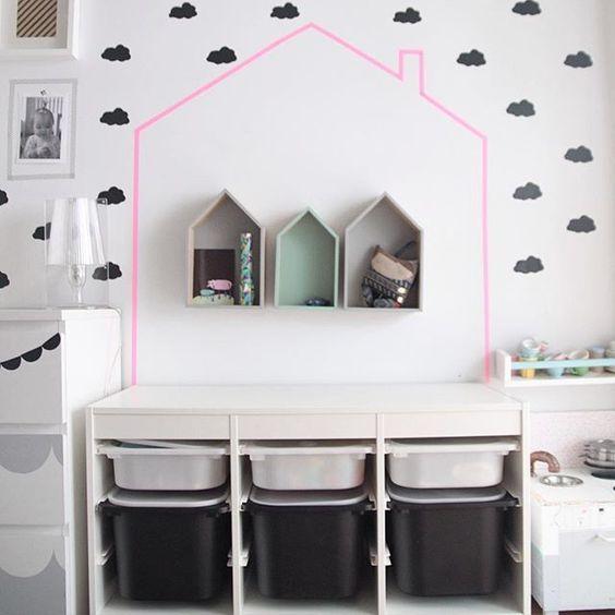 mommo design hack and play trofast toys storage house ikea hack trofast regal pinterest. Black Bedroom Furniture Sets. Home Design Ideas