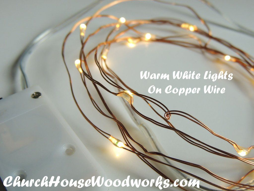 5 Sets Battery Fairy Lights - Warm White on Copper Wire LED Rustic ...