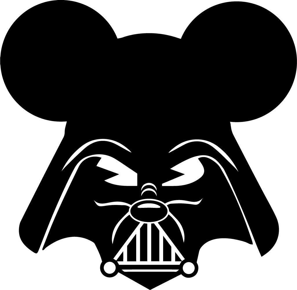Darth Vader Mickey Mouse Star Wars Walt Disney Vinyl Decal Sticker Force Awakens Disney Decals Vinyl Decals Darth Vader Sticker [ 999 x 1025 Pixel ]