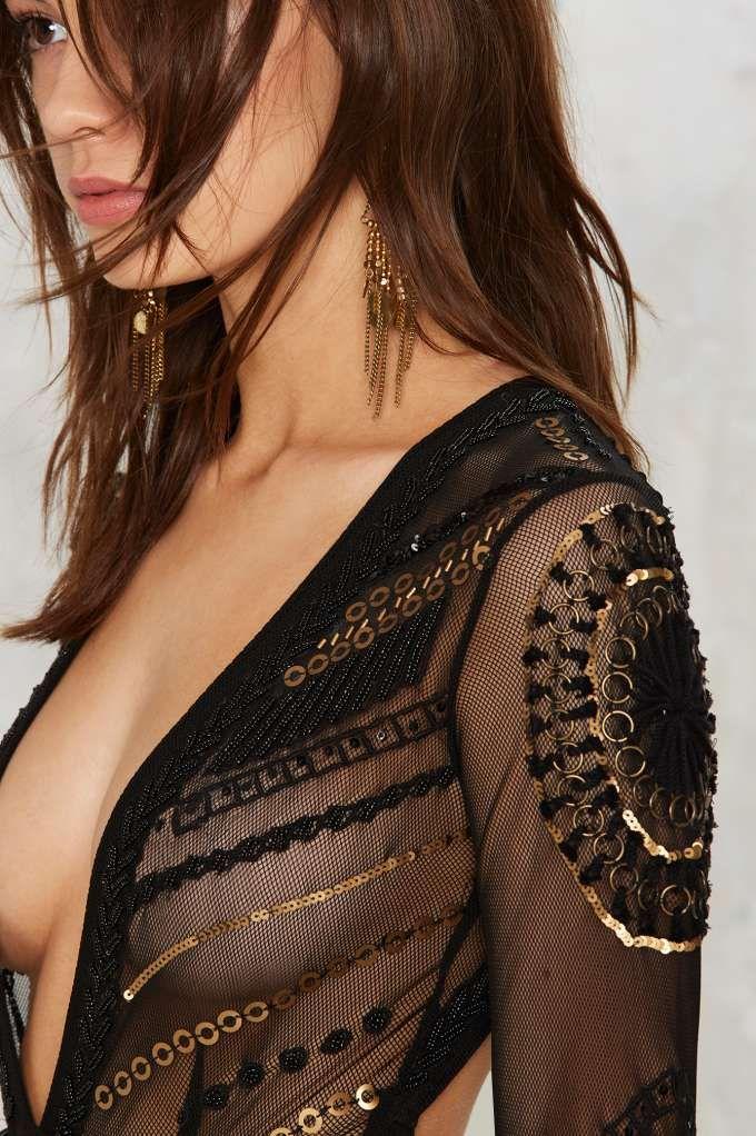 Nasty Gal Salma Embellished Bodysuit - Nasty Gal Collection | Fall Bohemia | Last Chance | Bodysuits | Tops | Bodysuits