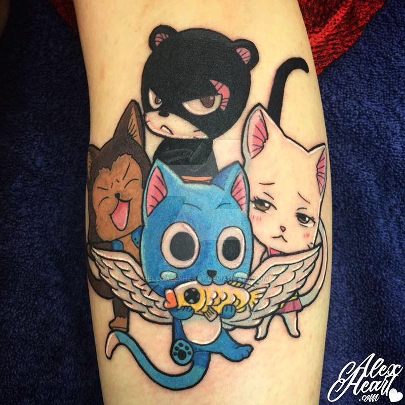 Fairy Tail Anime Tattoo by Alex Heart by helloalexheart