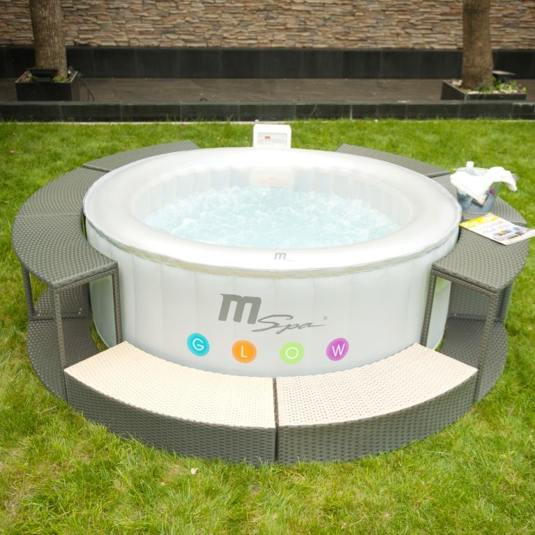 Poly Rattan Spa Surround set 6 PIECES | Hot tub accesories ...
