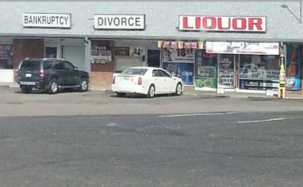 Afbeeldingsresultaat voor bankruptcy divorce liquor