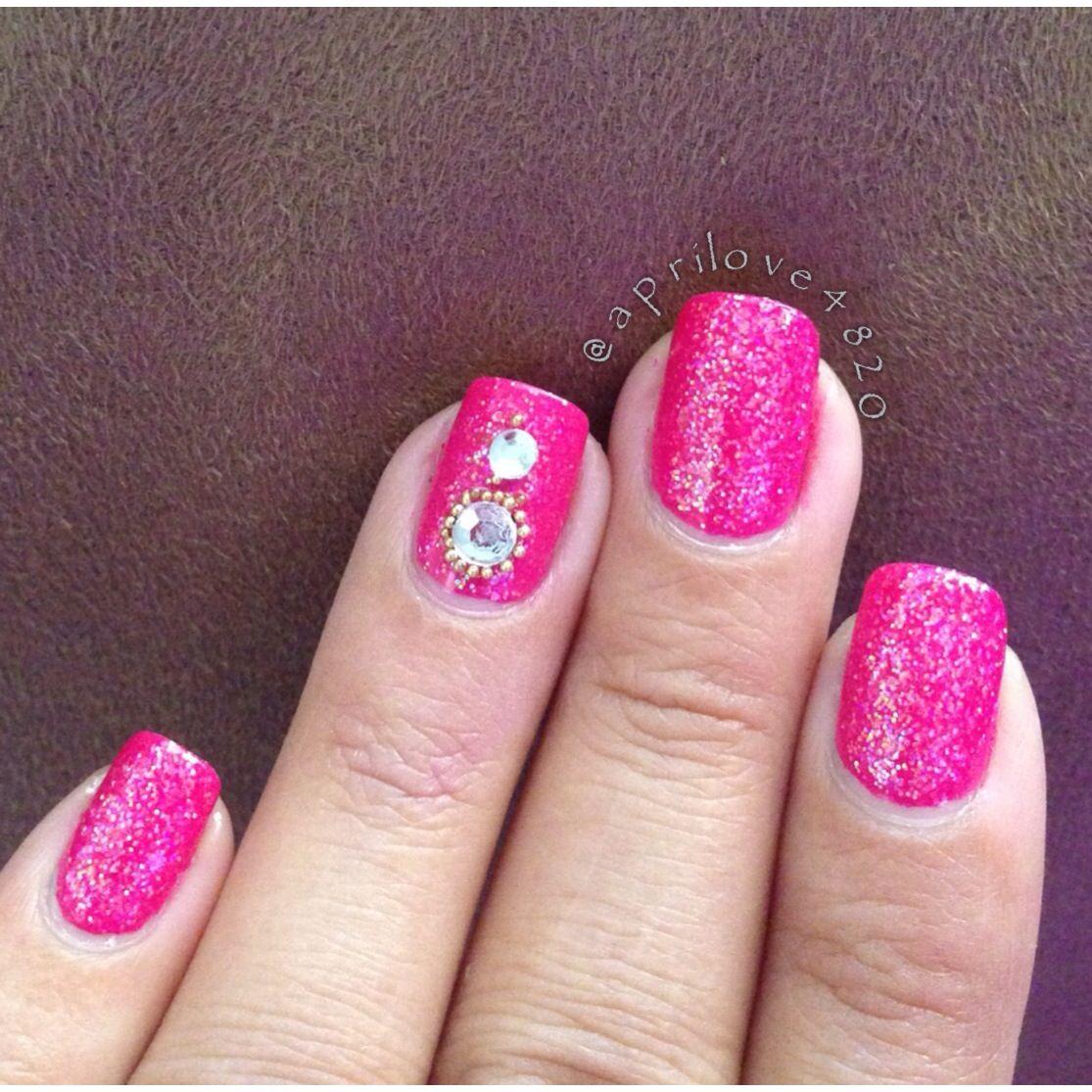 Girly Nails Pink Nails Glitter Nails Nails Nail Art Pink Nails