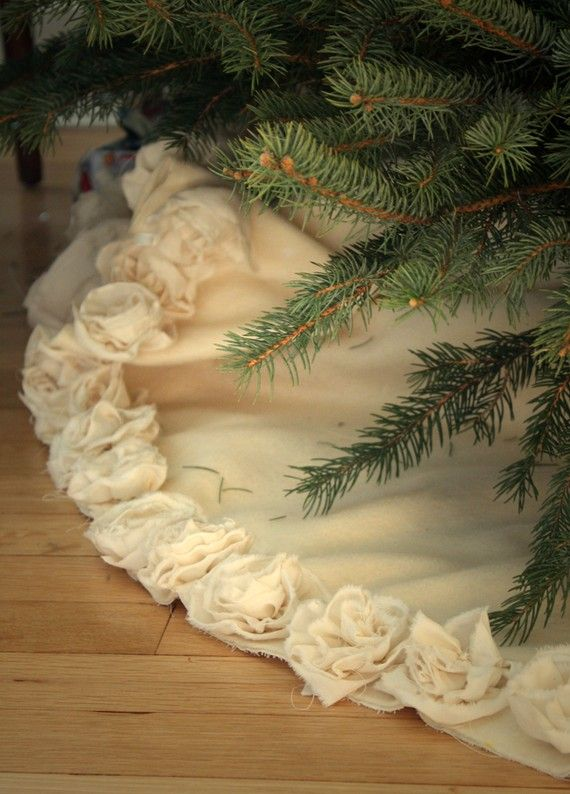 MAKE THIS - use painter's dropcloth for the base & muslin for the roses