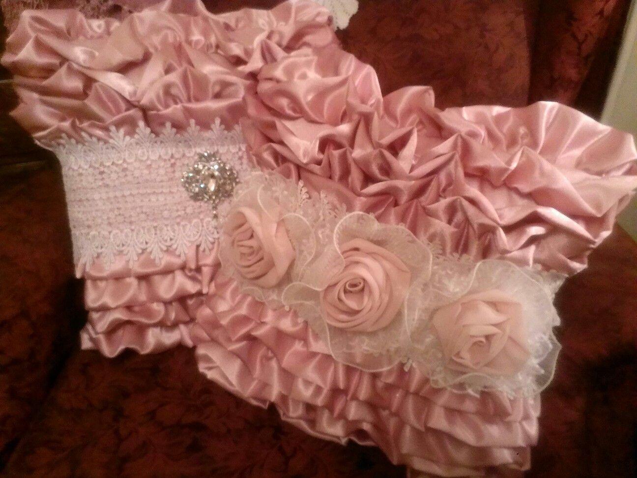 Elegant Ruffled Pillows....made by *JoyLynn Brenner*