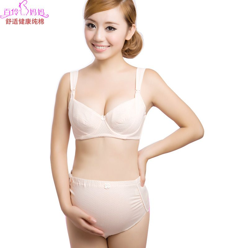 alibaba pregnant bra set | DX-1090-100-cotton-nursing-bra-panties ...