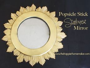 diy starburst mirror from popsicle sticks, crafts, repurposing upcycling