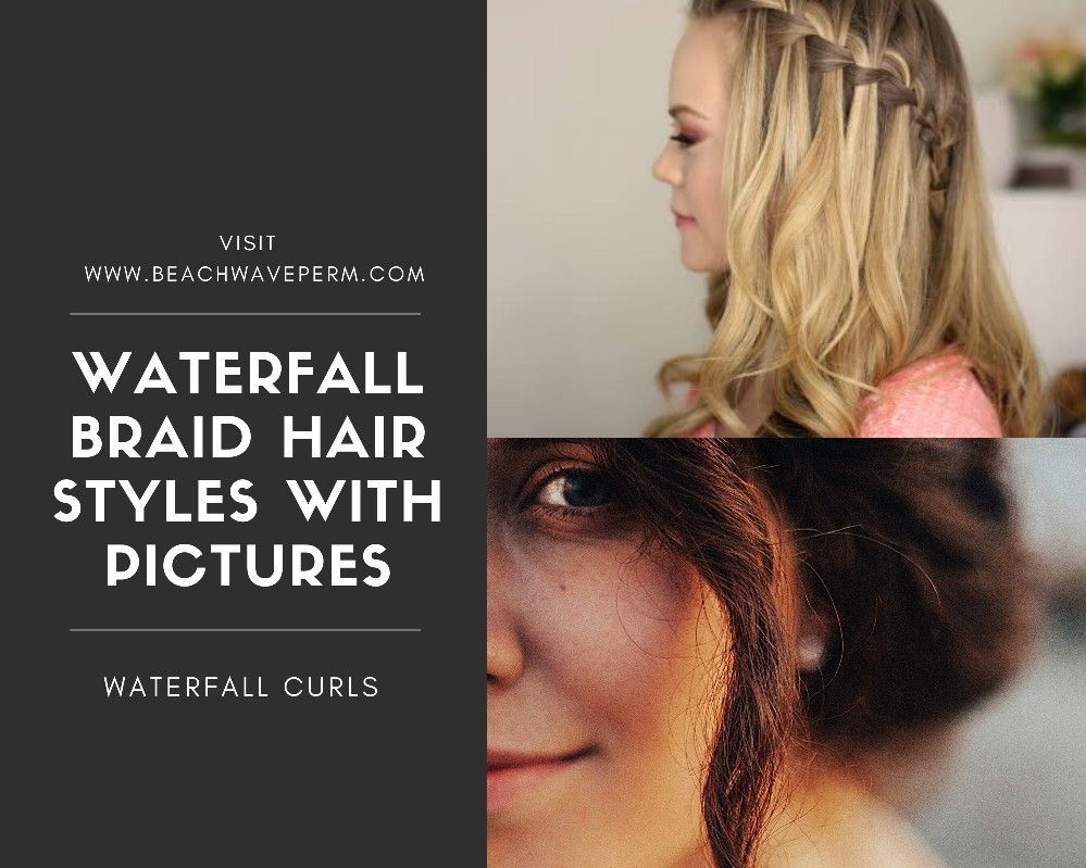 Look More Beautiful In Waterfall Braid Hairstyles Waterfall Braid Is Just Another Synonym For In 2020 Waterfall Braid Waterfall Braid Hairstyle Braided Hairstyles