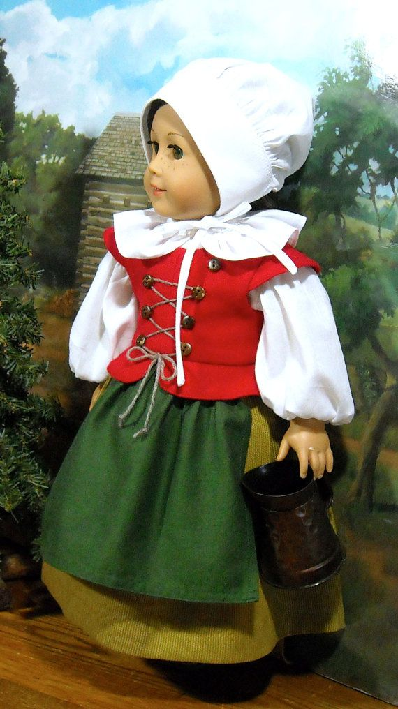 RESERVED Pilgrim Girl at Plymouth for 18 inch Dolls | American Girl ...
