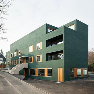 """Putz in """"Besenstrich"""" in grün #arquitectonico"""