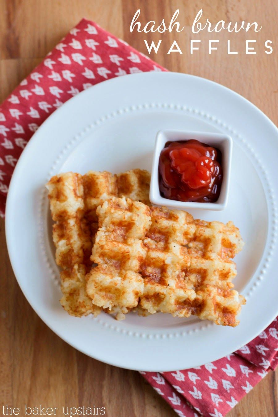 Hash brown waffles the baker upstairs breakfast