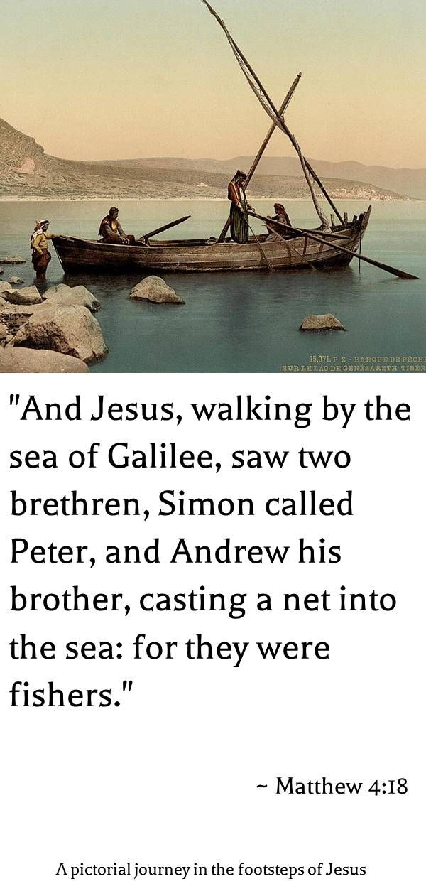 "A 120 years old photochrom print of fishermen in the Sea-of-Galilee | ""Pictorial journey in the footsteps of Jesus"" (free eBook)"