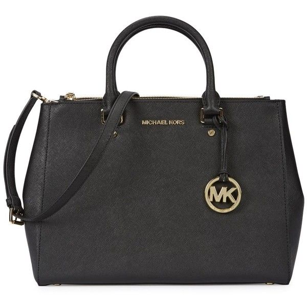9345d791511d Womens Shoulder Bags Michael Kors Sutton Large Black Leather Tote ( 500) ❤  liked on
