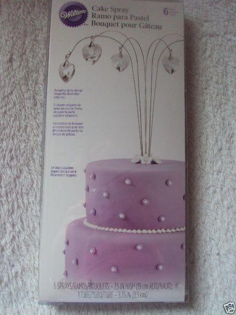 Wilton Topper Spray Heart 6CT Wedding Birthday Anniversary Cake Deco