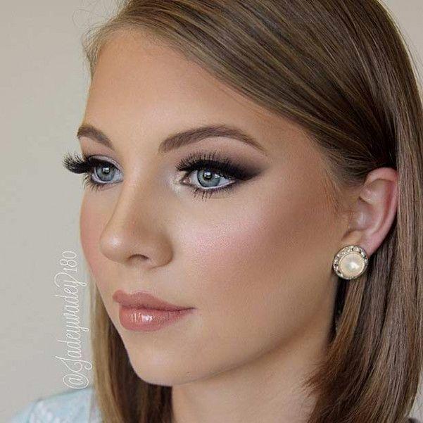 Natural Wedding Makeup | Hochzeit lippen, Blaue augen