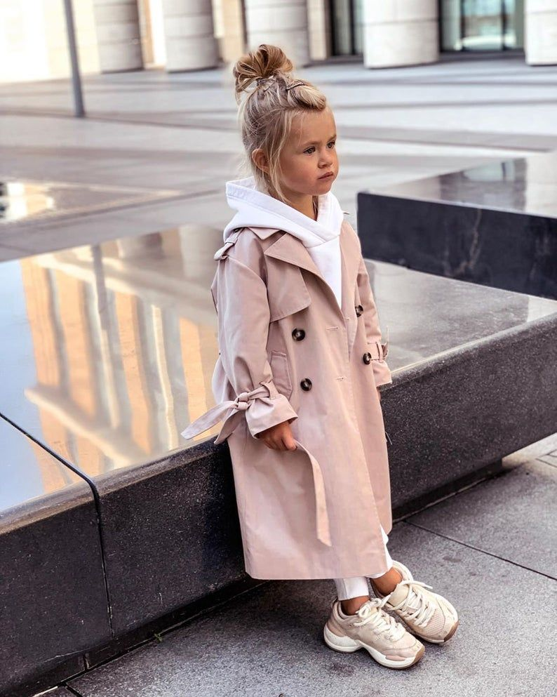 Belt Trench for girls, Jacket for girls, Coat for