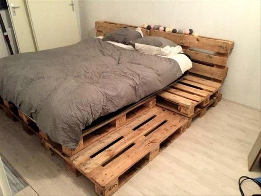 Diy Platform Bed Gives The Impression Of A Higher Bed 11