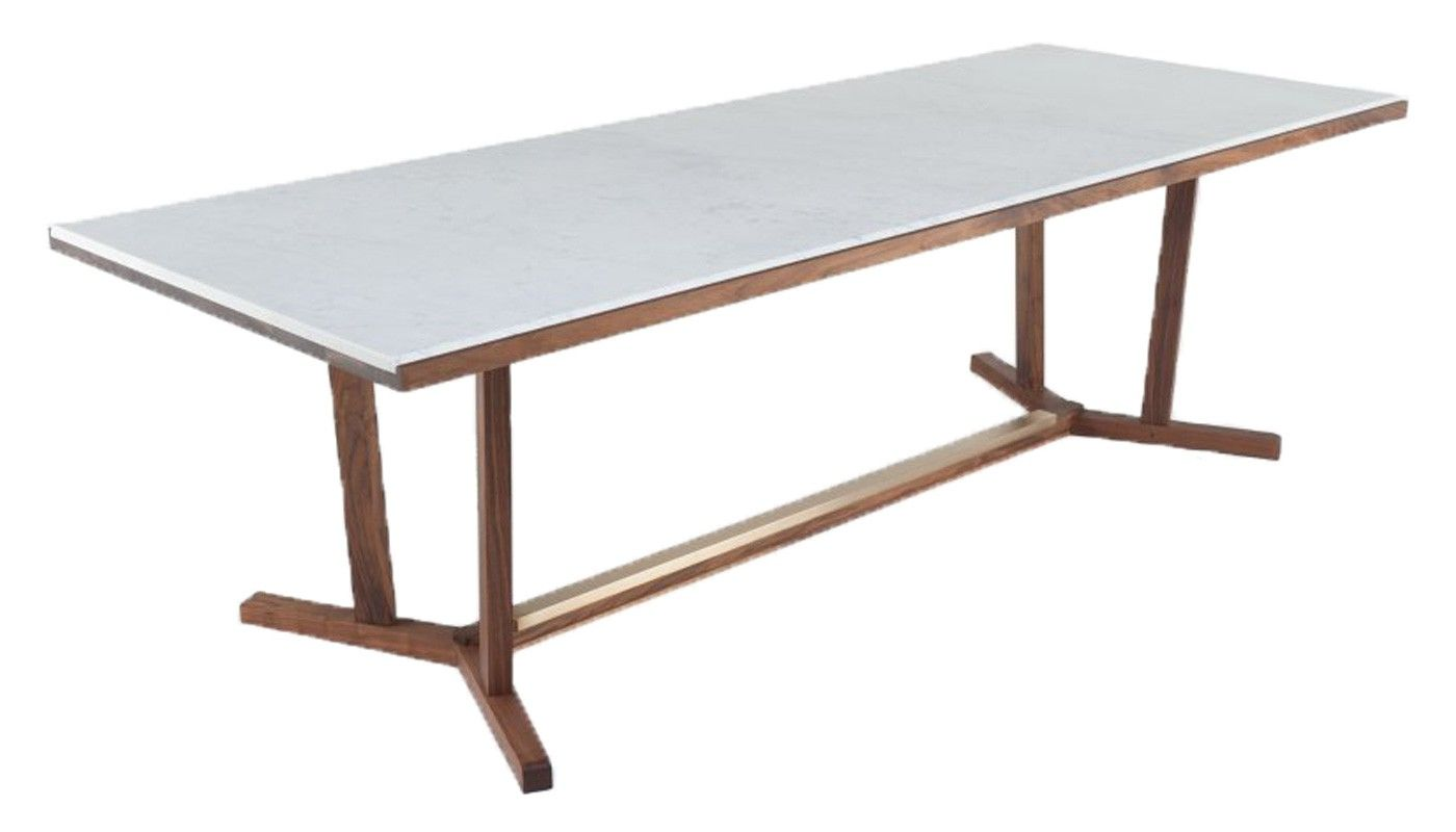 5 994 2 5m Neri Hu Shaker Dining Table 6 8 Seater Walnut Marble Top Luxury Dining Tables Dining Table Table