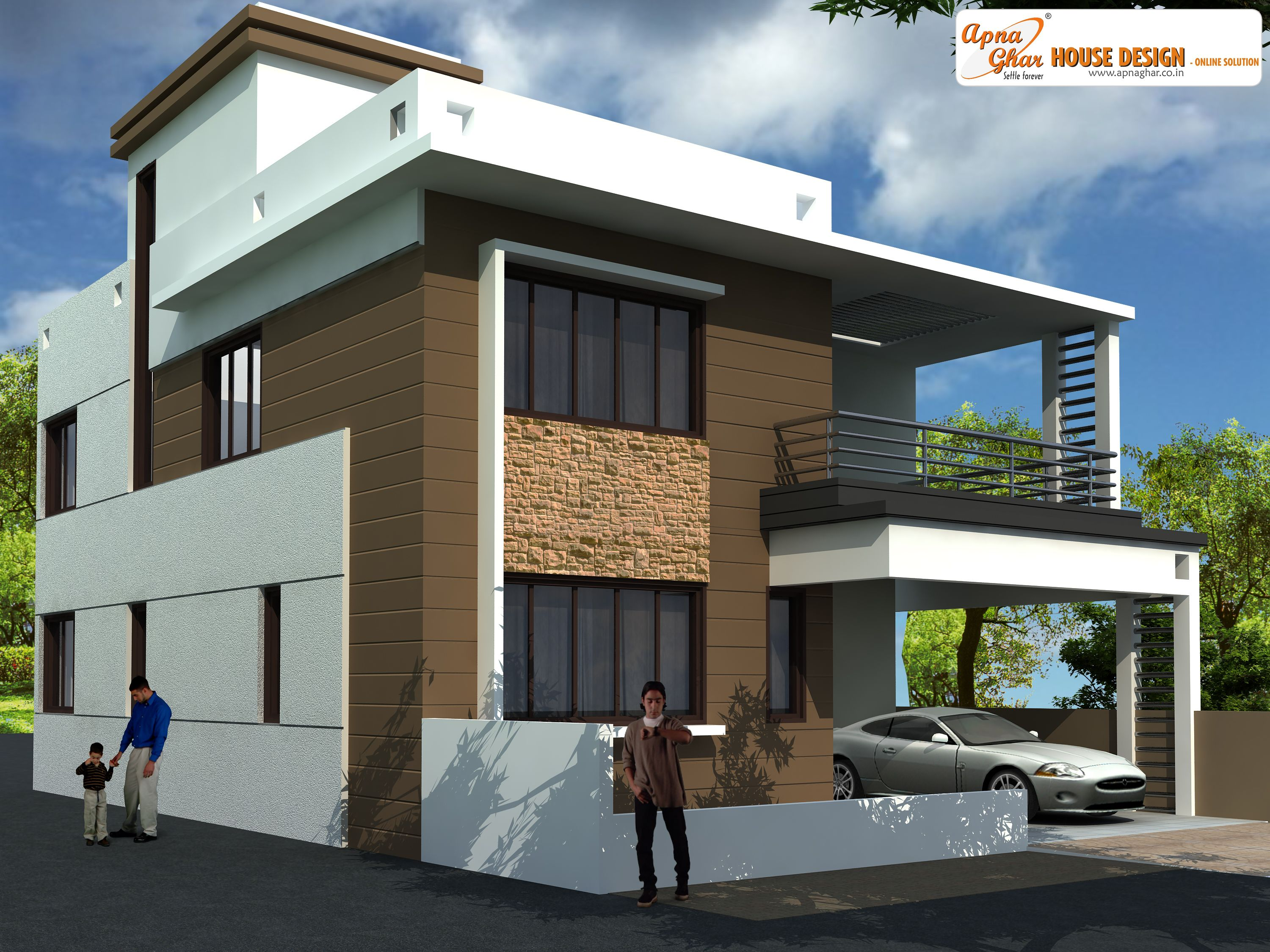 Beautiful Duplex (2 Floors) House.Click On This Link  (http://www.apnaghar.co.in/pre Design House Plan Ag Page 63.aspx) To View  Free Floor Plans (naksha) And ...