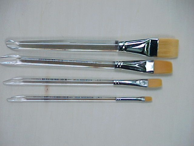 Paint Brushes For Acrylic And Watercolor With Clear Handle
