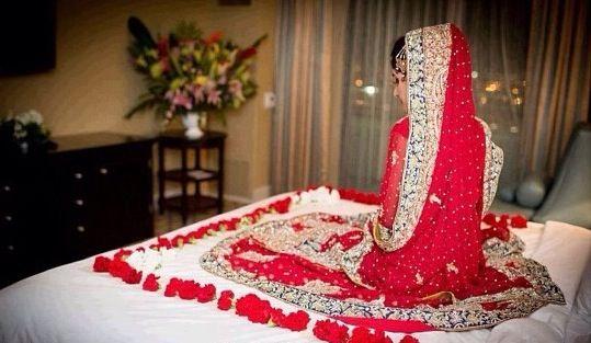 Desi Bride On Her Wedding Night Wedding Night First Wedding Night Pakistan Wedding
