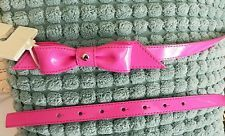 Kate Spade Womens Belt Pink Bow NWT Size Medium Patent Leather New