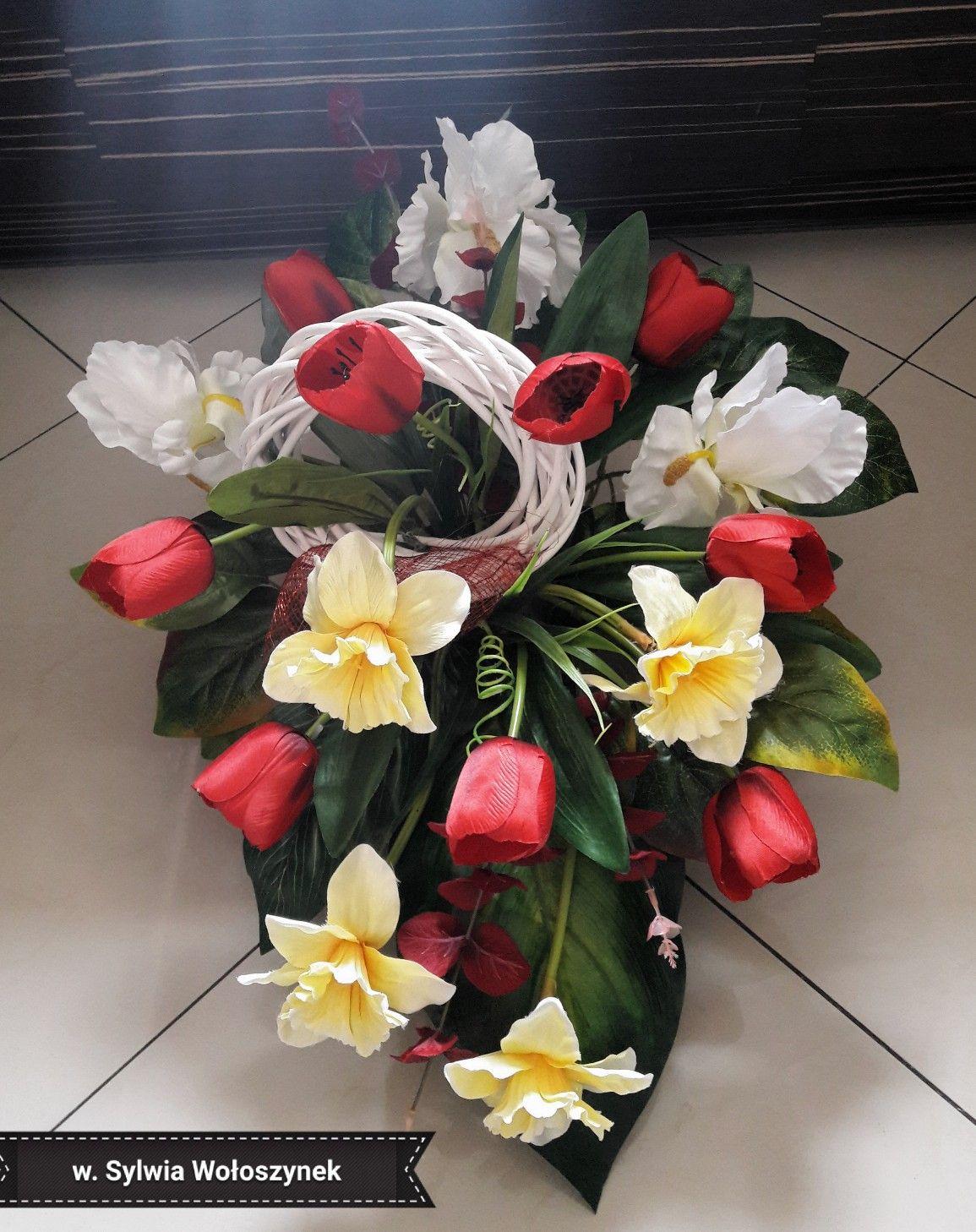 Kompozycja Nagrobna Wiosna 2018 Wyk Sylwia Woloszynek Flower Arrangements Diy Flowers Flowers
