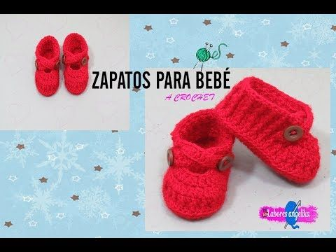 ZAPATOS PARA BEBÉ A CROCHET. - YouTube | GANCHILLO ( NIÑOS Y BEBES ...