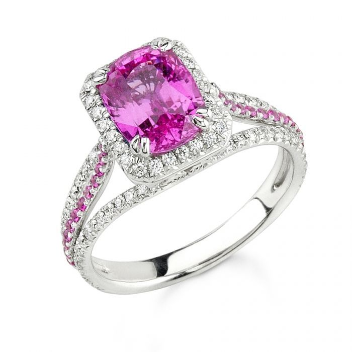 rosa saphir diamant ring saphir verlobungsring sapphire. Black Bedroom Furniture Sets. Home Design Ideas