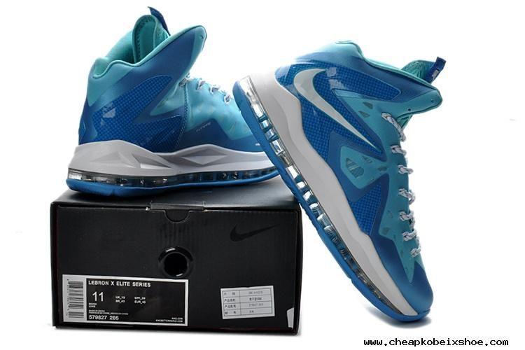 Blue diamond lebron x elite series white 579827 285