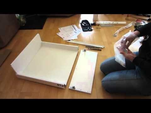 Ikea Sektion Kitchen Drawer Installation Youtube Kuchenschubladen Ikea Schubladen