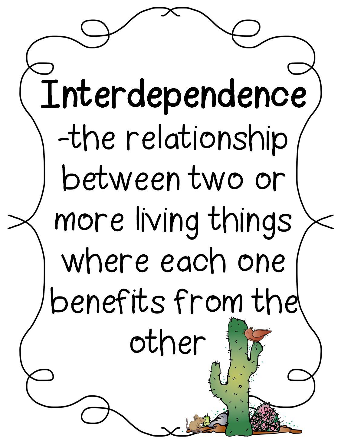 Interdependence The Relationship Between Two Or More