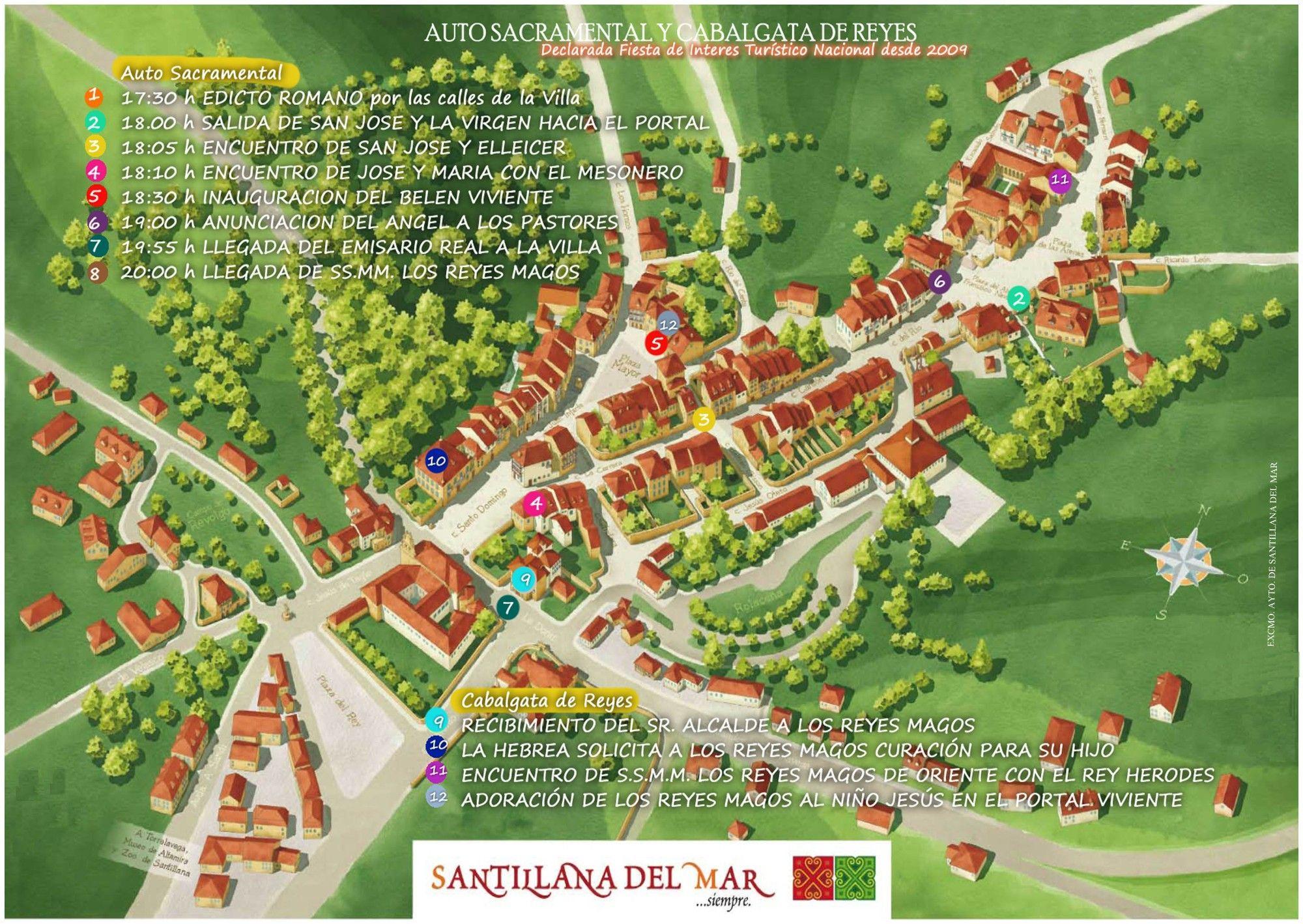 Santillana Del Mar Mapa.Santillana Del Mar Map Google Search Villas