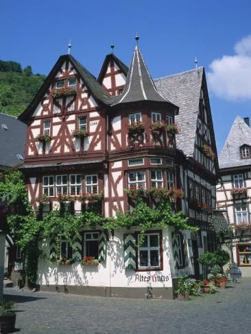 'Houses Dating from the 16th Century at Bacharach in the Rhineland, Germany, Europe' Photographic Print - Rainford Roy | Art.com