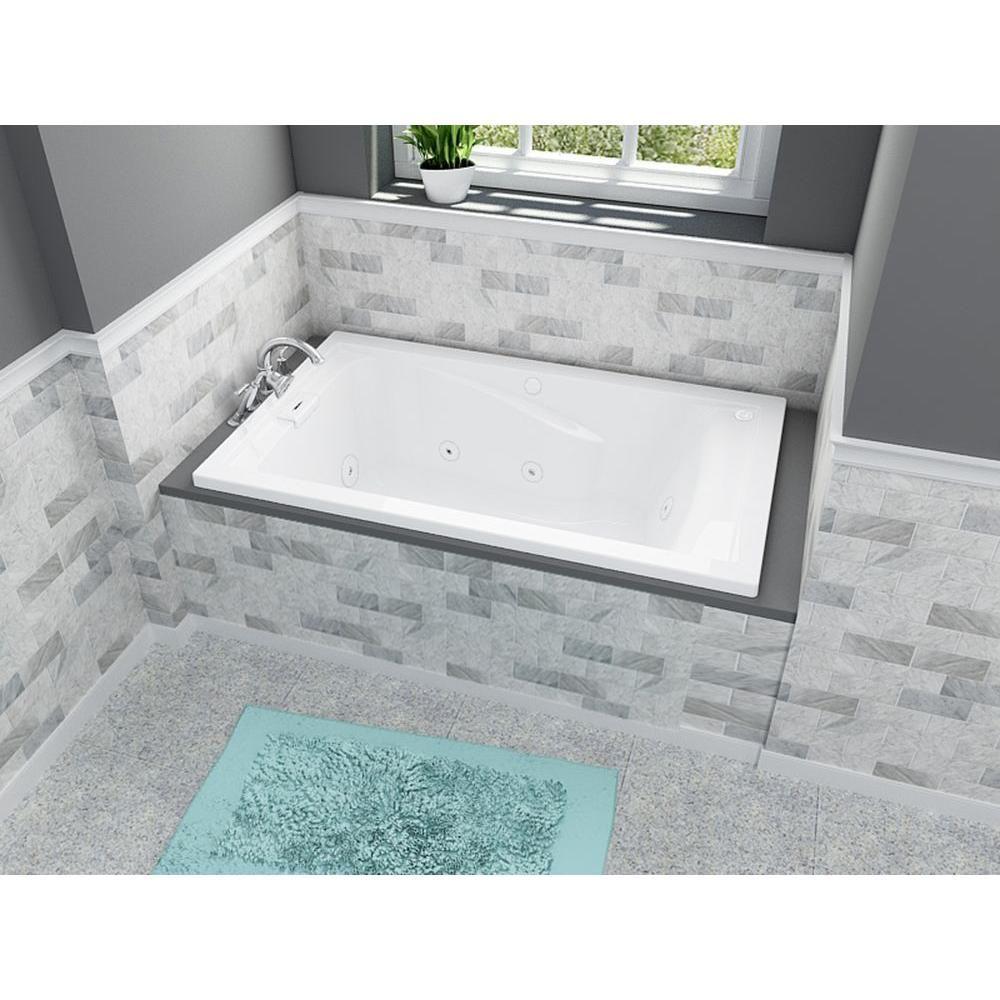 American Standard Everclean Reversible Drain 60 In Acrylic Rectangular Drop In 8 Jet Whirlpool Bathtub In White 2771lc 020 Whirlpool Tub Whirlpool Bathtub Soaking Bathtubs