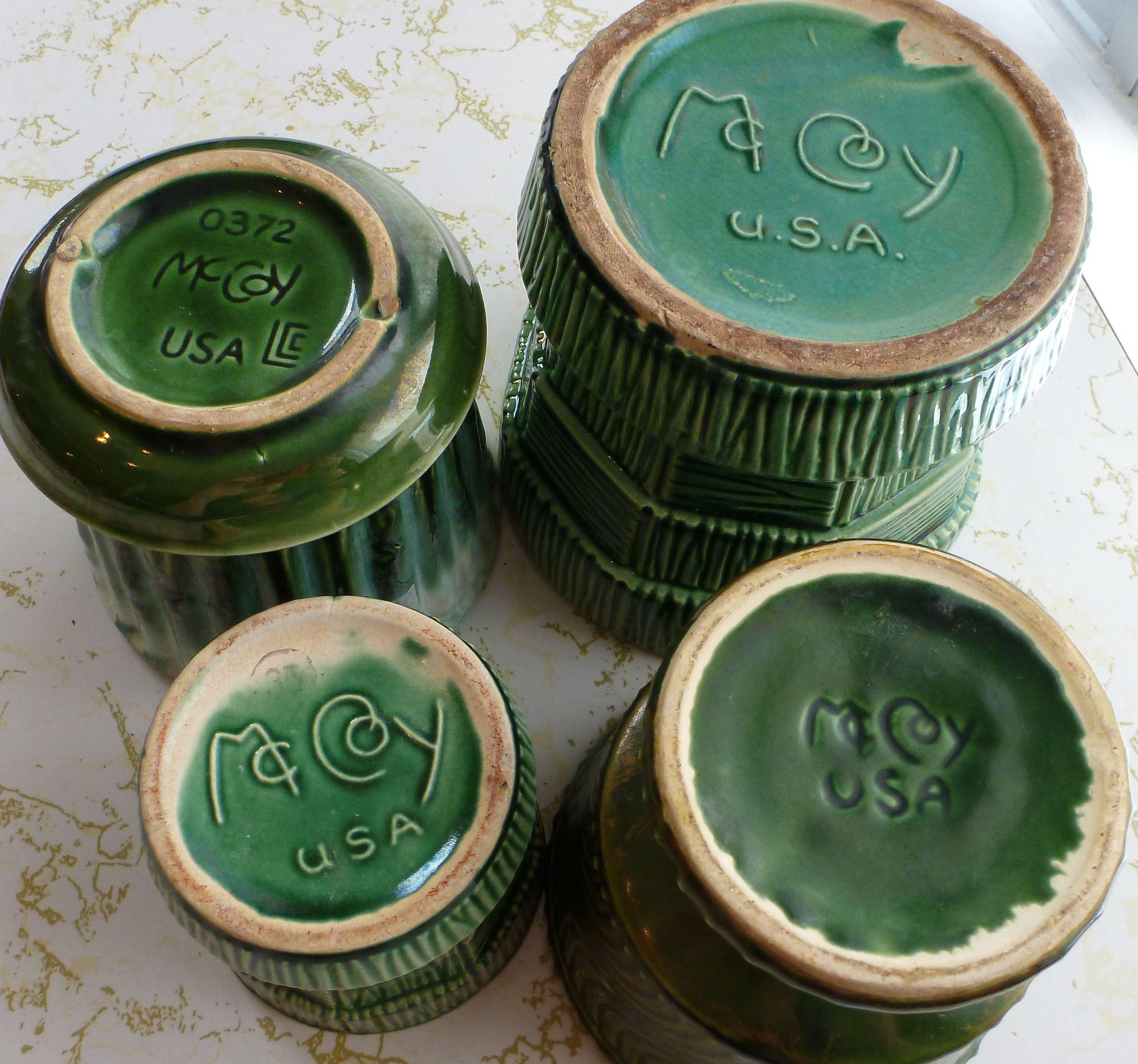 Vintage mccoy pottery green planters mccoy pottery pottery vintage mccoy pottery green planters reviewsmspy