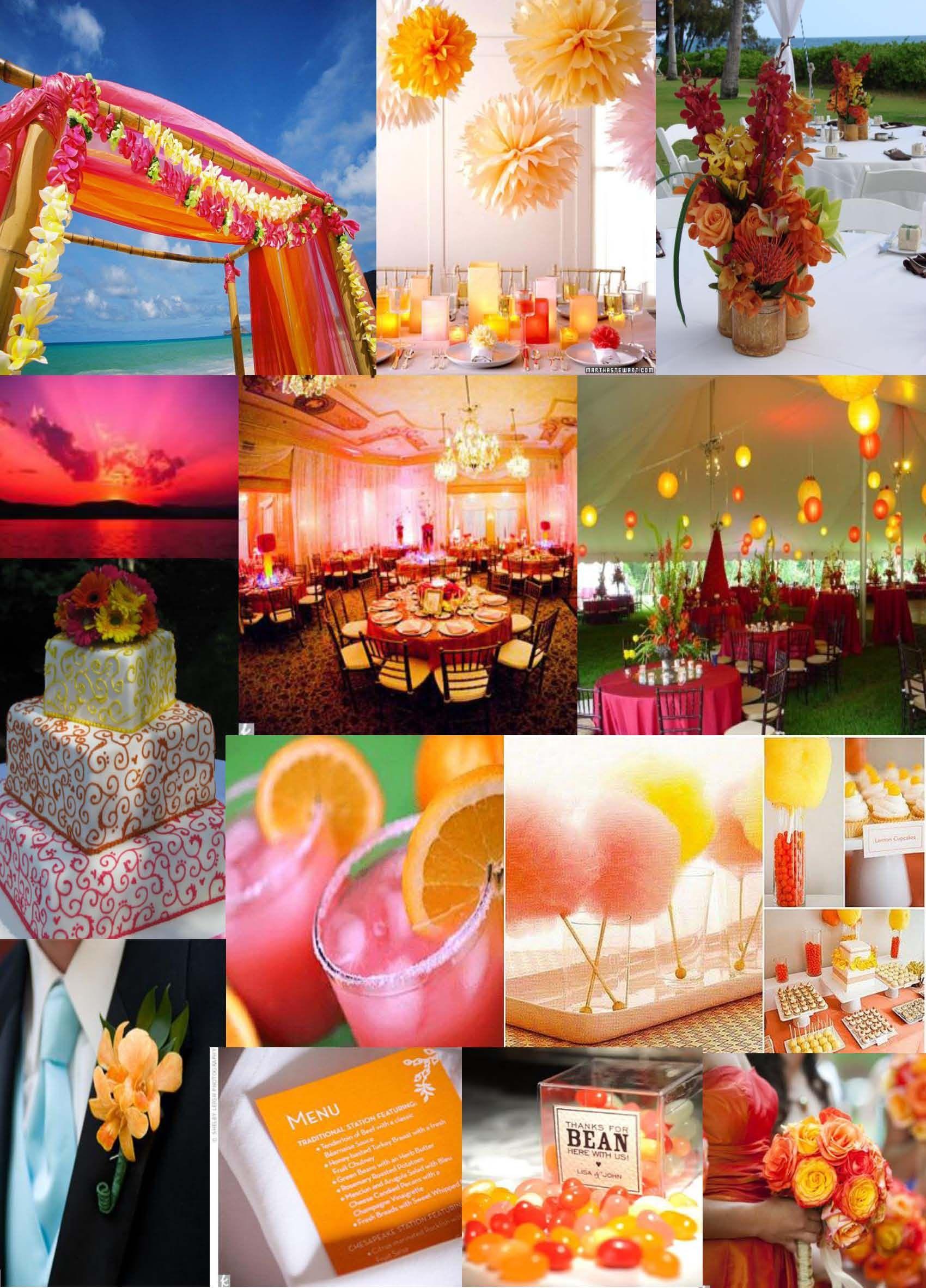 Pink Orange Color Board Weddings Events Brightcolors Pink Orange Event Venues Event Orange Color