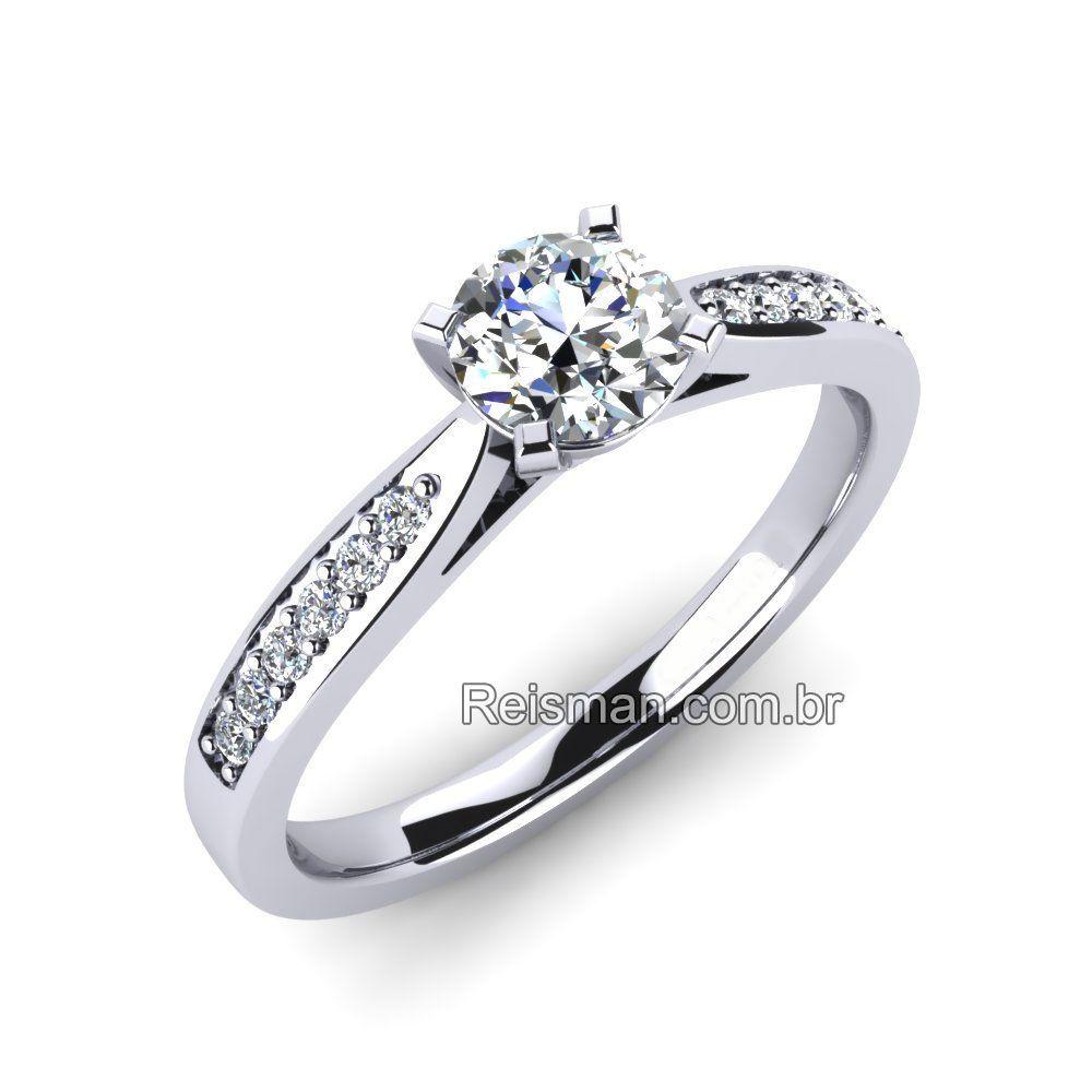 Anel De Noivado Solitario Diamante Anel De Noivado Anel