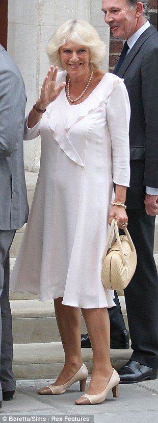 Camilla, Duchess of Cornwall, wore nude camp toe pumps to ...