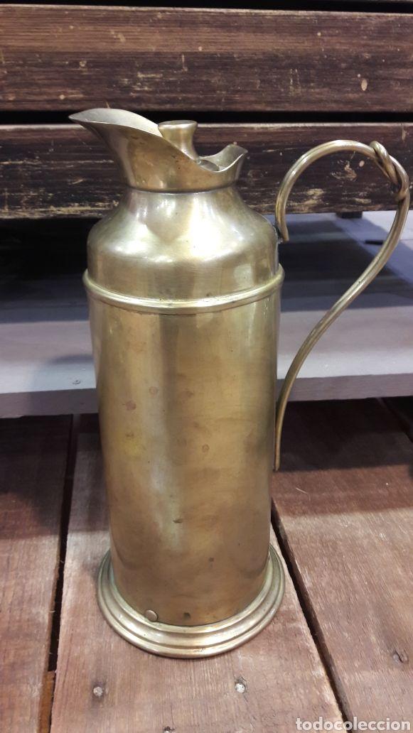 45 € - Termo antiguo de bronce, años 40   Ajuar de mesa y cocina ...