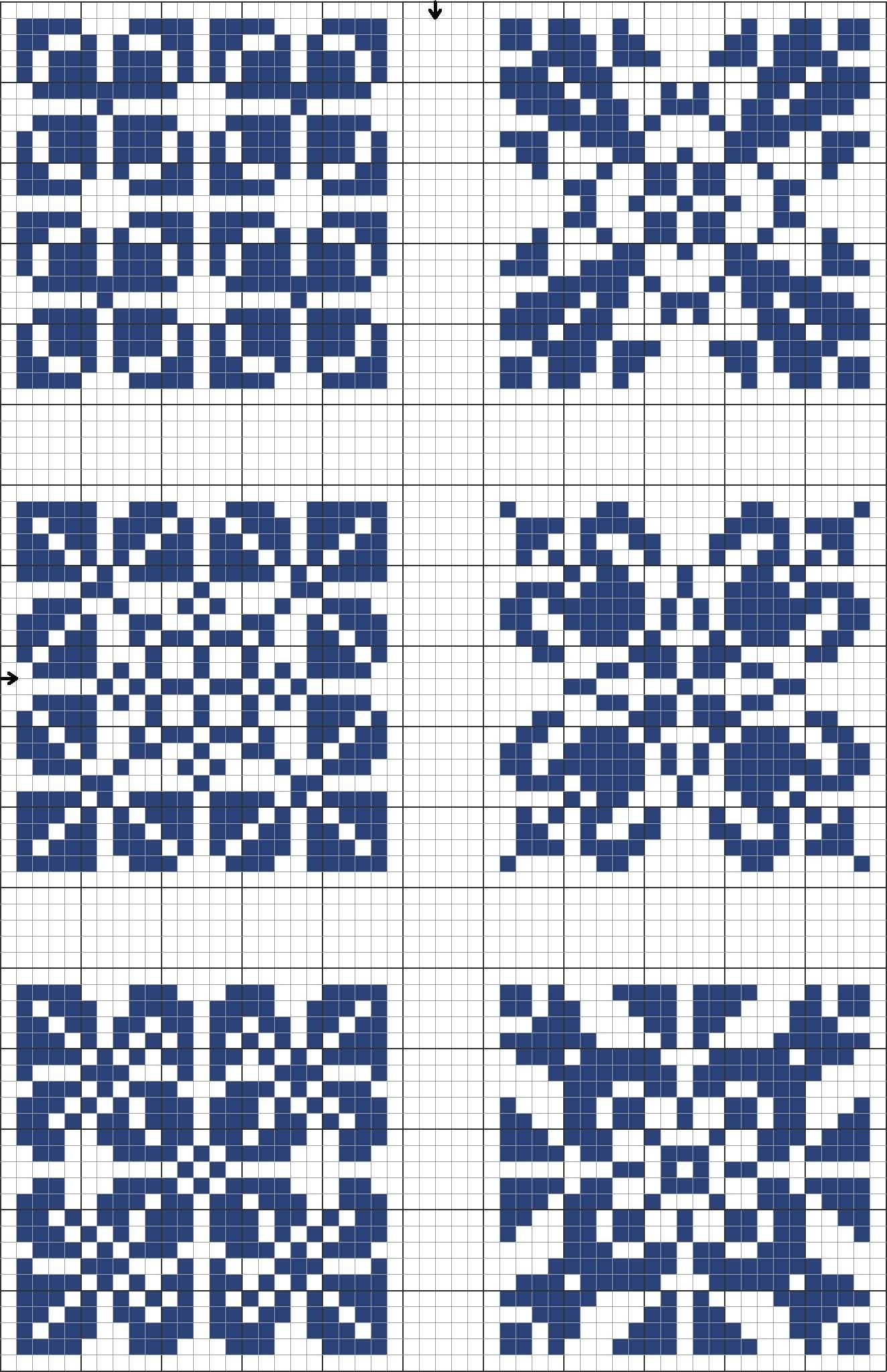 Cross stitch decorative tile template. Blue tiles 03 | Stranded ...