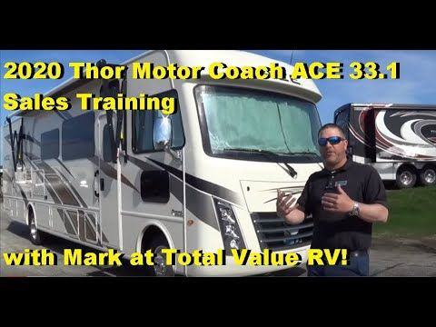 2020 Thor Ace 33 1 Sales Training With Mark At Total Value Rv